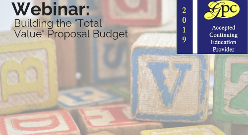 "Building the ""Total Value"" Proposal Budget"