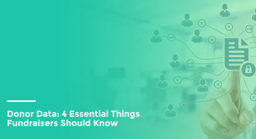 Donor Data: 4 Essential Things Fundraisers Should Know
