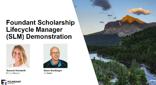 1 Hour Scholarship Lifecycle Manager (SLM) Demo Webinar