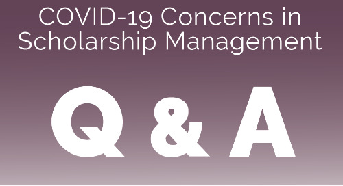 COVID-19 Concerns in Scholarship Management: Real Talk from Funders (March 25, 2020)