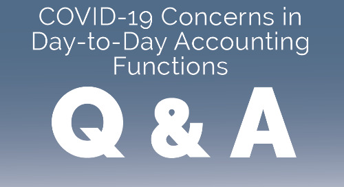 COVID-19 Concerns in day-to-day Accounting Functions: Real Talk from Funders (March 26, 2020)