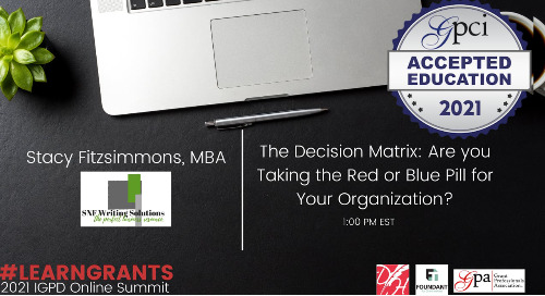 The Decision Matrix: Are you Taking the Red or Blue Pill for Your Organization? (Stacy Fitzsimmons)