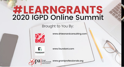 """The """"Why"""" Behind the 2020 #LearnGrants IGPD Online Summit"""