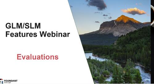 GLM/SLM Features Webinar: Evaluations