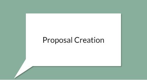 Streamline Proposal Creation