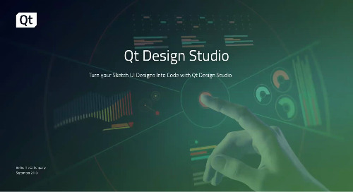 视频 | 利用Qt Design Studio将您在Sketch里的UI设计转化代码(网络研讨会,英文字幕)