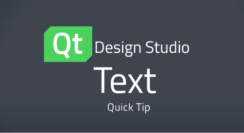 Qt Design Studio QuickTip: Text Element