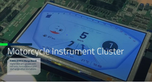 Qt for MCUs: Motorcycle Instrument Cluster on Renesas RH850 Microcontroller