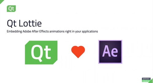 Qt Lottie: Embedding Adobe After Effects right in your application