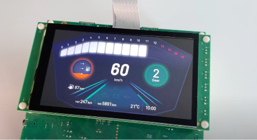 Qt for MCUs: Motorcycle Instrument Cluster on a NXP i.MX RT1170 EVK Microcontroller