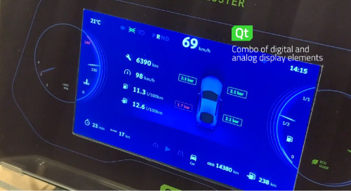 Qt for MCUs: Hybrid Instrument Cluster on a Renesas RH850-D1M1A Microcontroller