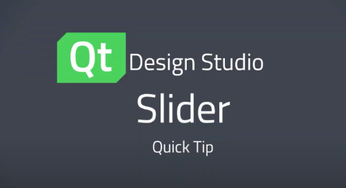 Qt Design Studio QuickTip: Slider Control