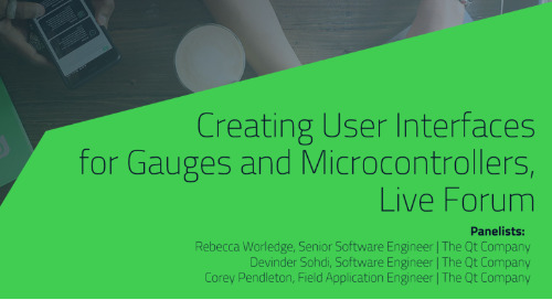 Creating UIs for Gauges and MCUs, Live Forum {On-demand webinar}