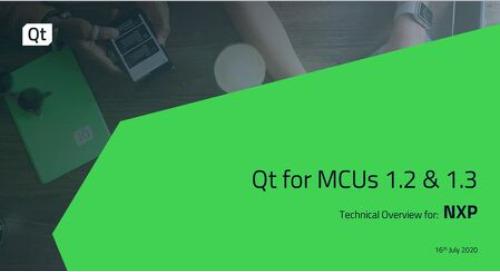 NXP Qt for MCUs Internal Tutorial Webinar (July 16, 2020)