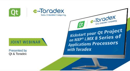 Kickstart your Qt Project on NXP i.MX 8 Series Application Processors {On-demand webinar}