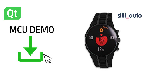 'Qt for MCUs' smartwatch demo for the NXP i.MX RT500 EVK