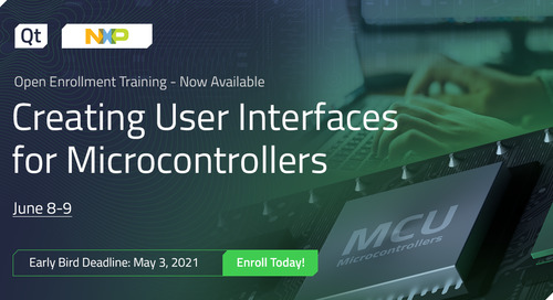 Qt Training: Creating User Interfaces for Microcontrollers (NXP) - June 8-9