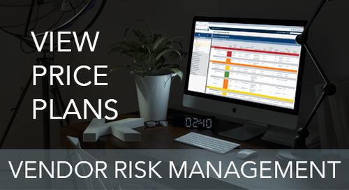 Pricing: Vendor Risk Management