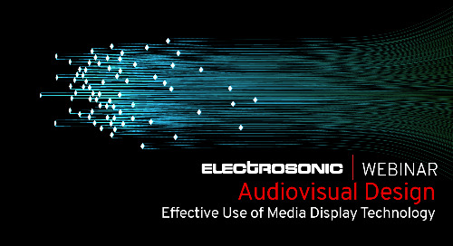 Audiovisual Design: Effective Use of Media Display Technology
