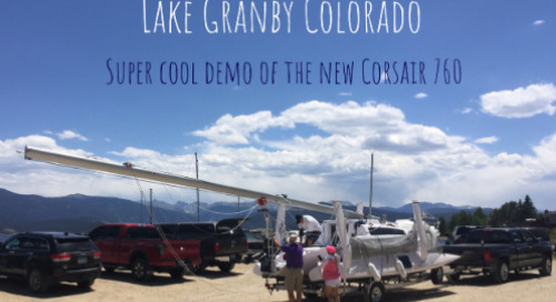 Training days on the Corsair 760 on Lake Granby, Colorado was a big success!