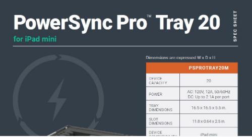 PowerSync Pro Tray 20 for iPad mini