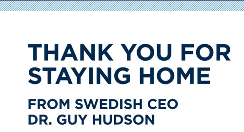 A Thank You From Swedish CEO, Dr. Guy Hudson