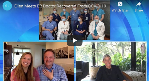 The Ellen Show: Ellen Meets ER Doctor Recovered from COVID-19