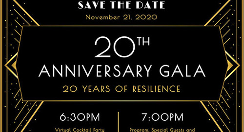 North West Hope and Healing 20th Anniversary Gala, Save The Date!
