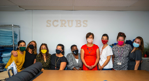 Swedish partners with Refugee Artisan Initiative for custom scrubs