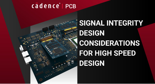 Signal Integrity Design Considerations for High Speed Design