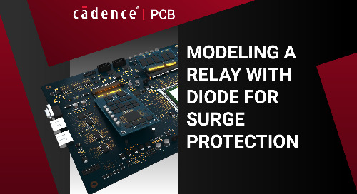 Modeling a Relay with Diode for Surge Protection