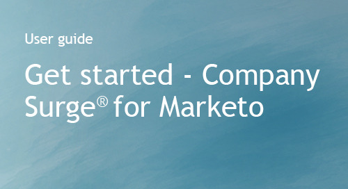 Company Surge® for Marketo - Getting Started