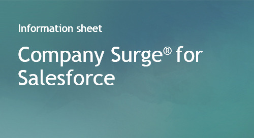 Company Surge® for Salesforce