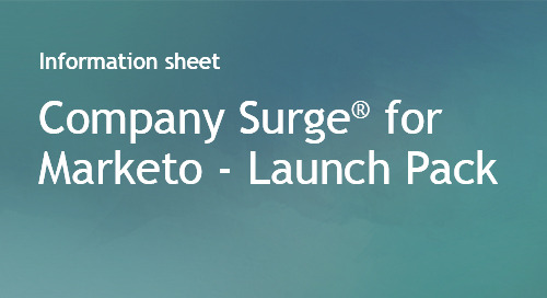 Company Surge® for Marketo Launch Pack