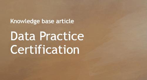 Data Practice Certification