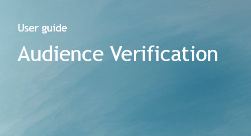 Audience Verification User Guide