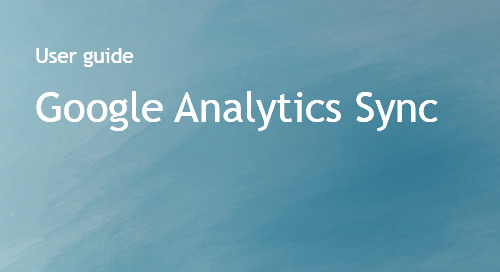 Google Analytics Sync User Guide