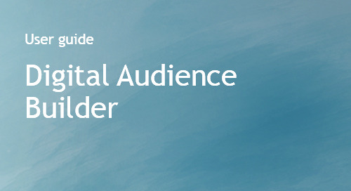 Digital Audience Builder User Guide