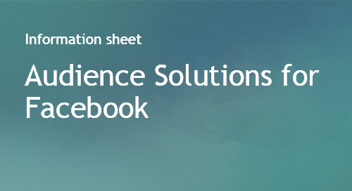 Audience Solutions for Facebook