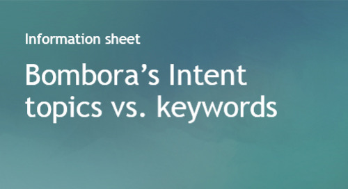 Intent topics vs. keywords