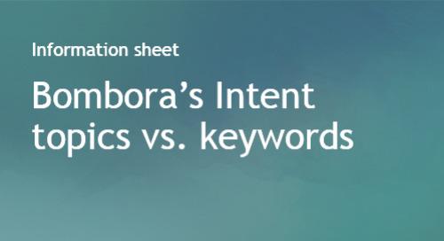 Intent topics vs. keywords
