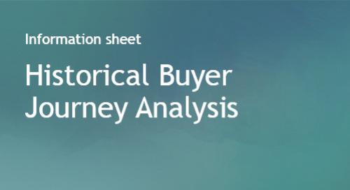 Historical Buyer Journey Analysis - Info Sheet