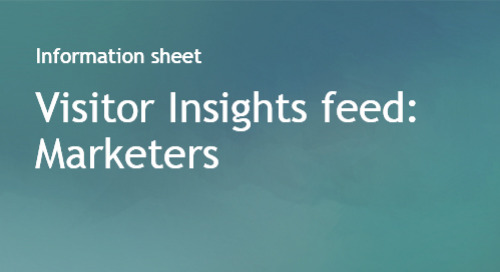 Visitor Insights Feed for Marketers