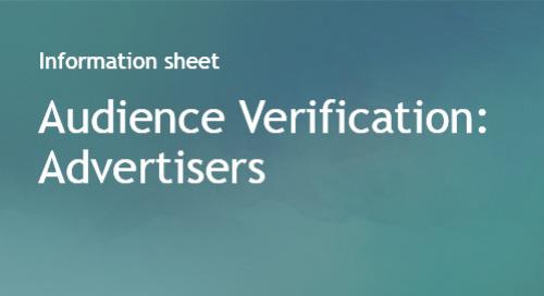Audience Verification Info Sheet