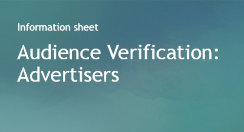 Audience Verification Info Sheet