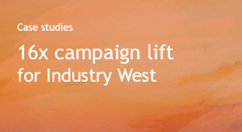 Adaptive Campaigns Industry West - case study