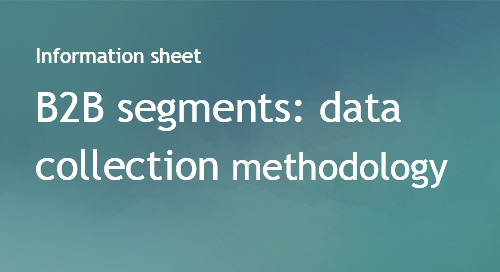B2B Audience segments data collection