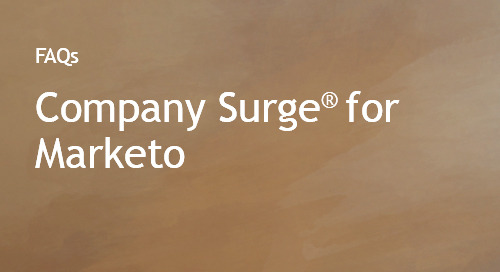 Company Surge® for Marketo FAQs