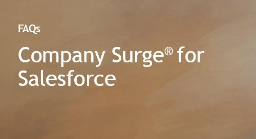 Company Surge® for Salesforce FAQs