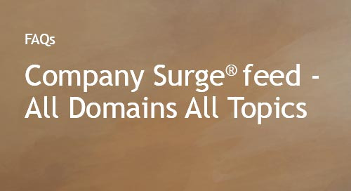 Company Surge® feed- All Domains All Topics (ADAT) FAQs